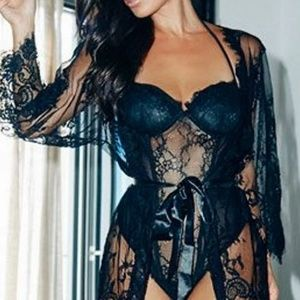 Victoria's Secret Lace Corset with Garter Belt